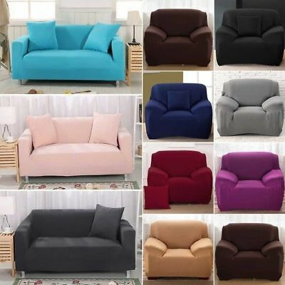 1-4 Seater Sofa Slipcover Stretch Protector Soft Couch Cover Washable Easy Fit