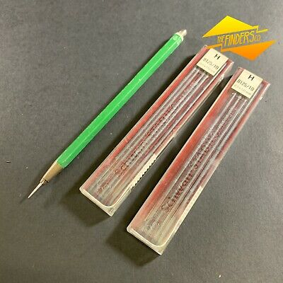 Vintage Faber-Castell 9400 Tk Germany Clutch Pencil With Scribe + Stabilo Leads
