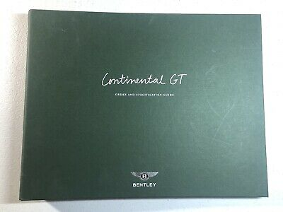 Bentley Continental GT Dealer Order Guide Very Rare Item With Paint Samples