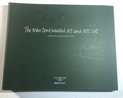 Bentley Continental GT & GTC V8 Dealer Order Guide Rare Item With Paint Samples