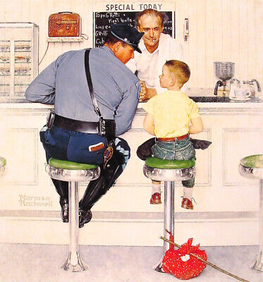 THE RUN A WAY   NORMAN ROCKWELL  8x10 Poster Print