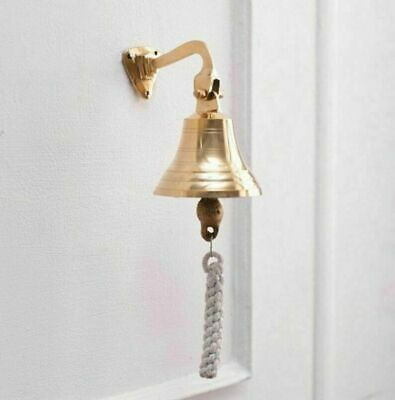 Antique Nautical Solid Brass Mini Bell Nautical Vintage Brass Door Bell