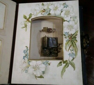 Antique musical photo album, great condition and working, late Victorian