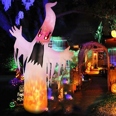 Yard Inflatable Scary Ghost Haunted House 8Ft LED Lights Halloween Prop Decor