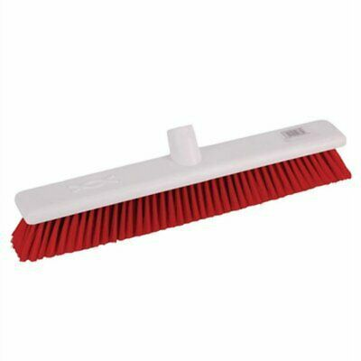 Jantex Soft Washable Broomhead Red 457mm DN833 [N01Z]