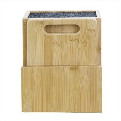 Vogue Wooden Universal Knife Block & Chopping Board CP863 [8H6R]