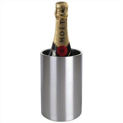 Olympia Brushed Stainless Steel Wine & Champagne Cooler C386 [7N65]