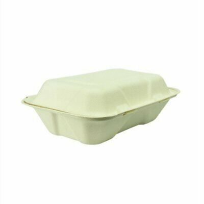 Vegware Compostable Clamshell Hinged Meal Boxes (Pack of 200) GH026 [WC42]