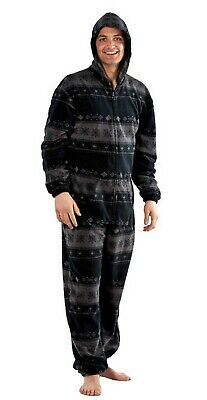 Mens Fairisle Design Warm Fleece Pyjama Sleepwear Nightwear