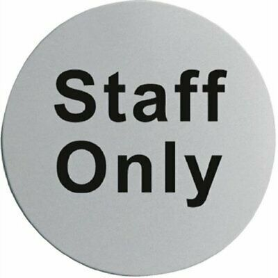 Stainless Steel Staff Only Door Sign U060 [5I71]
