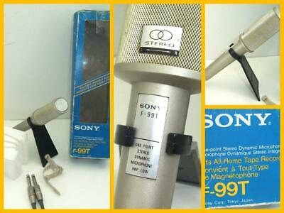 Sony F-99T Stereo Mic One Point Stereo Dynamic Microphone