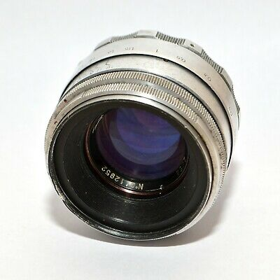 RARE Helios 44 2/58 13 BLADES Silver Old Russian lens SLR M39  CLA