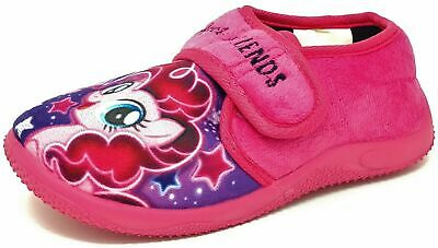 Kids/Childrens Pink My Little Pony Slippers Booties Girls Mules Size 6-12