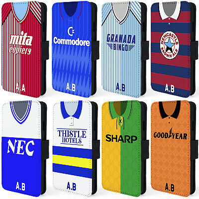 Retro Football Shirt iPhone Case 8 & 8 Plus Wallet Cover Personalised ALL TEAMS