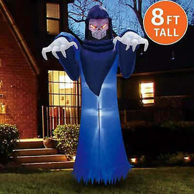 HOT!Joiedomi Halloween 8 FT Inflatable Spooky Warlock with Build-in LEDs Blow Up