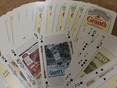 Grants Whiskey - Vintage Playing Cards - Patience - Good Condition & Complete