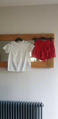 Beautiful Girls Outfit Party Candy Couture Matalan Shorts And Blouse Age 11-12