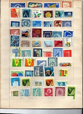 United Nation stamp collection 55 stamps used vf 1950's-70's