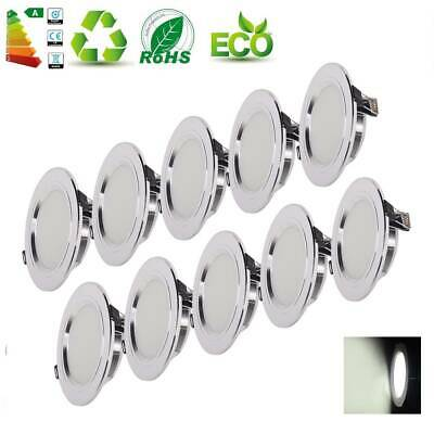 10/20X LED Ceiling Light 9W Round Downlight Lamp Spotlight Daylight 6500K Energy