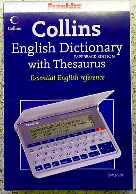 FRANKLIN Collins DMQ-570 Electronic Dictionary With Thesaurus Brand New