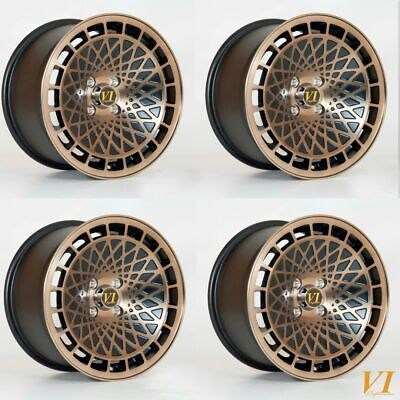 """VIP TYPE T 15"""" x 8"""" 4x100 et25 alloys fit VW UP 2011 on"""