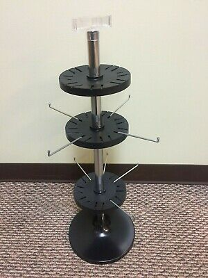 Countertop Spinner Display with Sign Holder 2 Tier racks w/ 8 hooks *Brand New*
