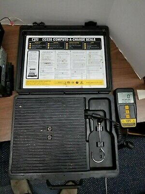 CPS CC220 COMPUTE-A-CHARGE, 220 lb Refrigerant Scale w/case