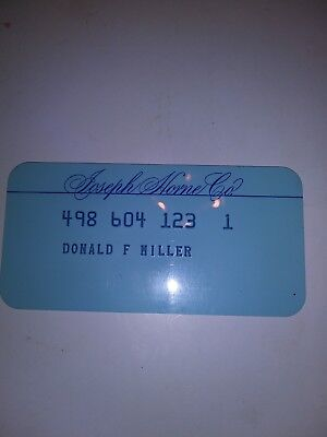 Vintage Joseph Horne Charge Plate Credit Card department store