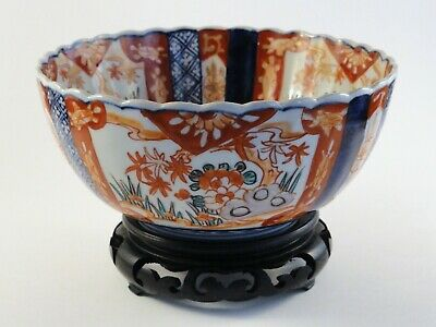 Japanese Imari Antique Bowl with Stand