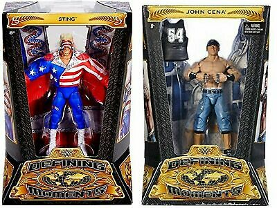 Wwe Defining Moments Elite Action Figures John Cena & Sting Character New