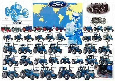Vintage Ford New Holland Tractor History Collection BROCHURE/POSTER ADVERT A3