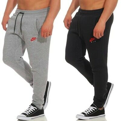 Nike Air Mens Fleece Joggers Tracksuit Jogging Bottoms Skinny Pants Slim Fit