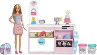 Barbie Cake Bakery Playset With Baker Doll - Cake Decorating Playset - Toy - New