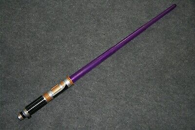 Hasbro Star Wars Lightsaber Mace Windu Purple 2010 Lights & Sound Jedi Sword EUC