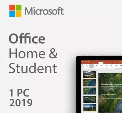 Microsoft Office 2019 Home and Student Retail Product Key For PC ONLY