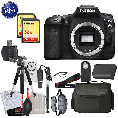 Canon EOS 90D DSLR Camera (Body Only) with Deluxe Striker Bundle