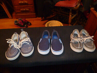 LOT OF 6 Pairs Pre Owned Little Boys Sneakers Size 2~Nike