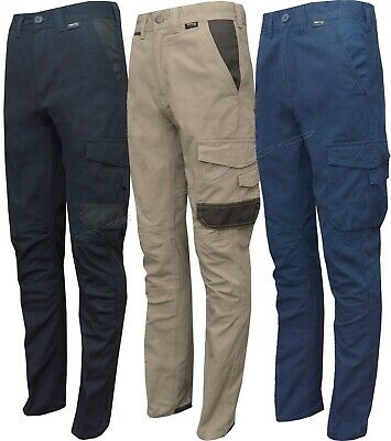 """Mens Stretch Slim Fit/ Slim Fit Cargo Chinos Twill Work Combat Trousers 30""""-40"""""""