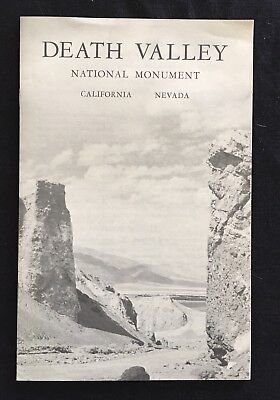 Death Valley National Monument California Nevada Circa 1961 Travel Brochure