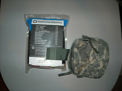 MOLLE medic pouch with MARCH IFAK resupply kit FREE SHIPPING