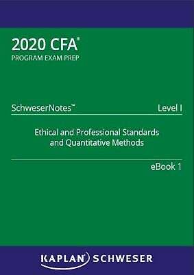 NEW CFA  Schweser 2020 Level 1 Notes Book 1-5 Quick sheet + Q&A Bank & much more