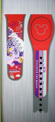 NEW DISNEY EPCOT FIGMENT SPACESHIP EARTH RED Magic Band Magicband Parks