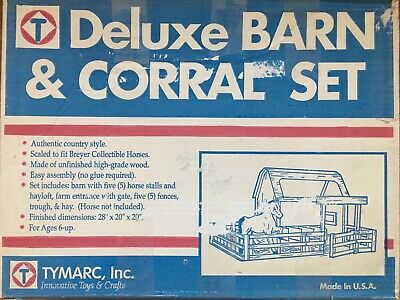 Deluxe Barn & Corral Set Vintage Model Horse Toy NIB From 1990s JCPenney Catalog