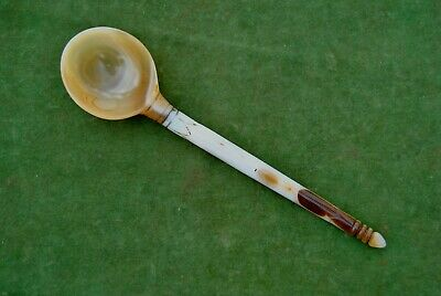 Vintage indian mughal ottoman style islamic agate haqeeq spoon no bowl