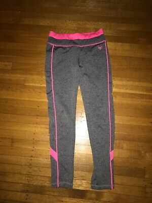 Girls Justice Size:10 gray and pink Leggings GUC