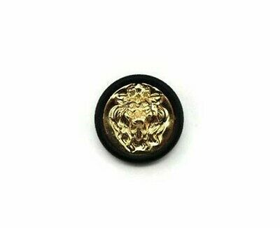 Black gold lion chanel look plastic shank blazer button