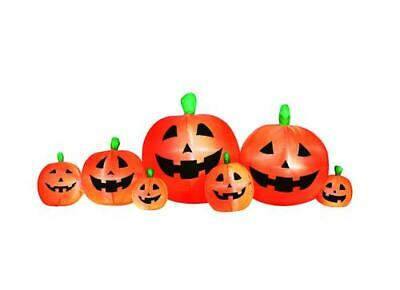 Large 8' x 5' Lighted Pumpkin Patch Inflatable Indoor Outdoor Lawn Halloween
