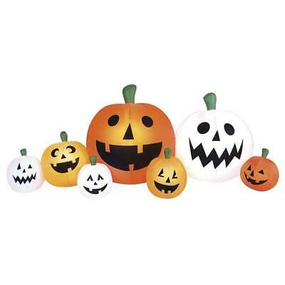 Large 8 Ft Pumpkin Patch Inflatable Weather Resistant Outdoor Lawn Halloween