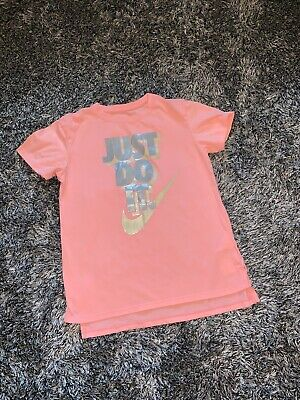 Immaculate - Nike Peach Just Do It Tshirt - 10 - 12 Years