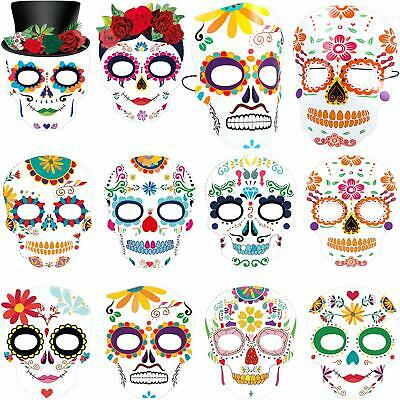 Day The Dead Masks Dia de Los Muertos Sugar Skull Face Tatoo Masks Skeleton